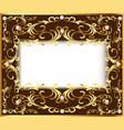 vintage background frame with vegetable golden vector image