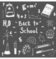 back to school doodle set vector image