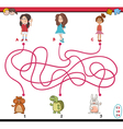 path maze cartoon vector image
