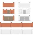 Stone bricks fence vector image