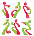fitness and sport vector image vector image