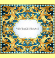 blue background with gold pattern and precious vector image vector image