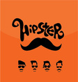 Mustaches HIPSTER vector image vector image