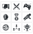 eSports icons set vector image
