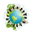 children around the globe vector image