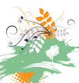 abstract nature design vector image vector image