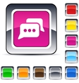Chat square button vector image vector image