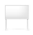 Blank white board vector image