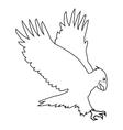 eagle line icon vector image