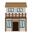 wooden house icon vector image