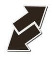 arrows opposite ways icon vector image