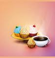 coffee - coffe time - coffee break vector image