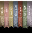 Collection of ribbons vector image