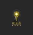 Light bulb logo lamp shine creative innovation vector image