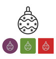 line icon of christmas tree decoration vector image