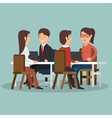 office teamwork meeting business characters vector image