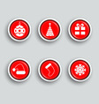 set of Christmas buttons vector image