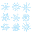 Snowflakes set funny design hand drawn vector image