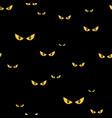spooky monster eyes in the dark halloween seamless vector image