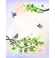 Spring morning vector image