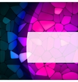 Stained glass design template EPS 8 vector image