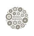 wheel service background vector image