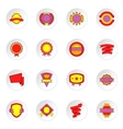 Label and ribbon icons set flat style vector image