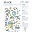 Space Vertical Infographic vector image vector image