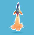Space rocket launching abstract vector image vector image