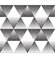 Dotted triangular texture vector image vector image
