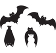 Set of Bats vector image