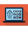Smart House design Technology icon vector image