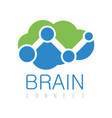 brain connect logo vector image