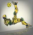 Brazilian Football Robot vector image