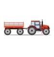 green tractor with semi-trailer vector image