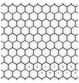 Hexagon background vector image