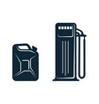 oil fueling station canister flat icon vector image