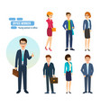people with briefcases and bags in hands vector image