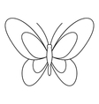 Beautiful butterfly icon outline style vector image