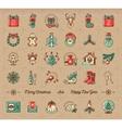 Mega Christmas icons set Winter holiday symbols vector image