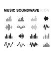 line music soundwave icons set vector image vector image