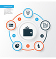trade icons set collection of payment contract vector image