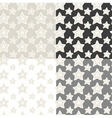 Seamless patterns set of stars with hand vector image