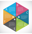 Infographics hexagon paper vector image