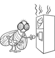fly and vending machine coloring page vector image