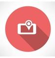 Smartphone GPS icon vector image vector image