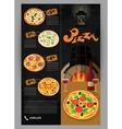 booklet flyer leaflet menu for pizza vector image