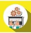 technology design laptop  media icon vector image