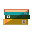 books staked with shadow design vector image