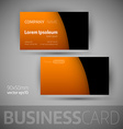 Business Card Template With Sample Texts vector image